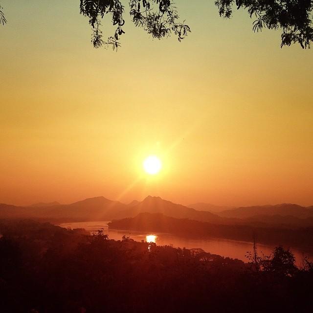 Luang Prabang mount phousi