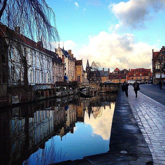 Bruges ruas da cidade
