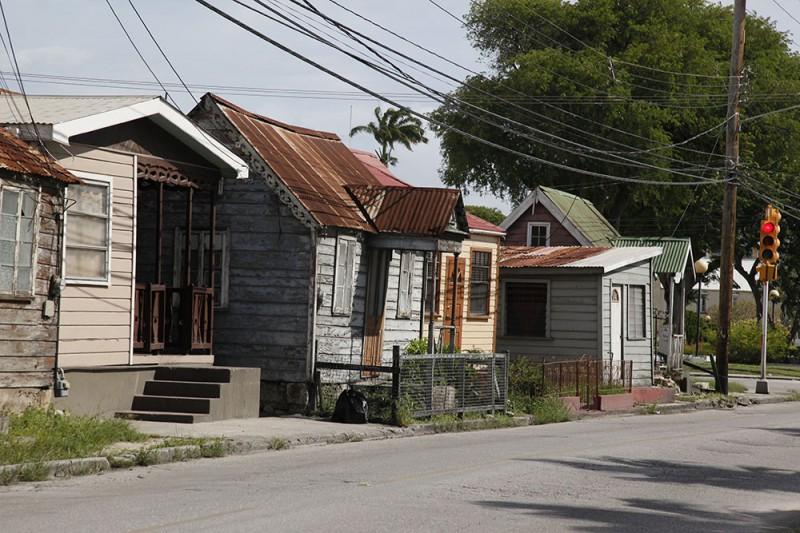 ruas e casas de Barbados Arquitetura de Barbados