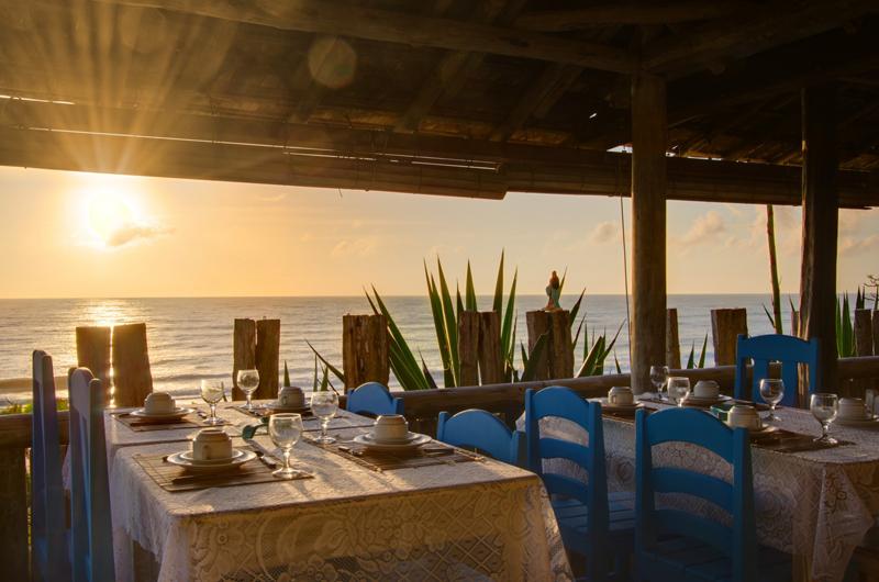 Pousadas em Caraiva: Café da manhã com vista na Pousada San Antonio Praia