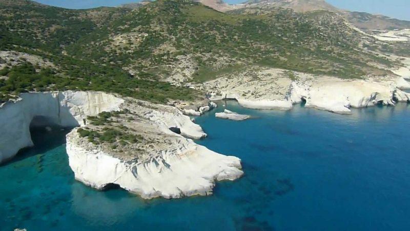 Praia de Kleftiko Milo Grécia