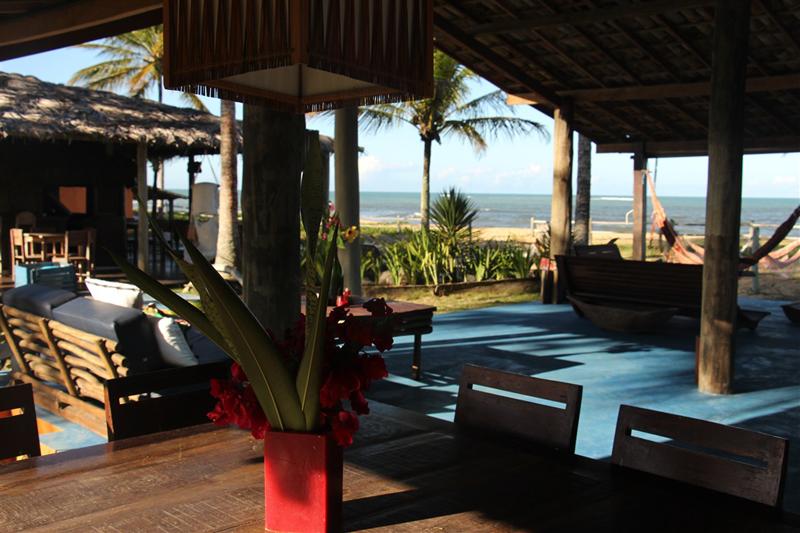 Onde se hospedar em Caraiva: Área para relaxar da Pousada da Barra