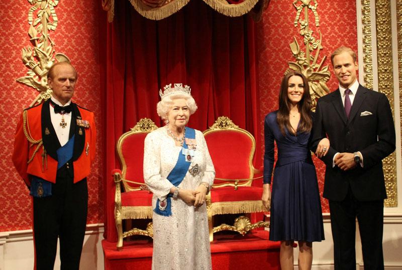 Dicas de Londres: Até a família real é representada no Madame Tussauds.