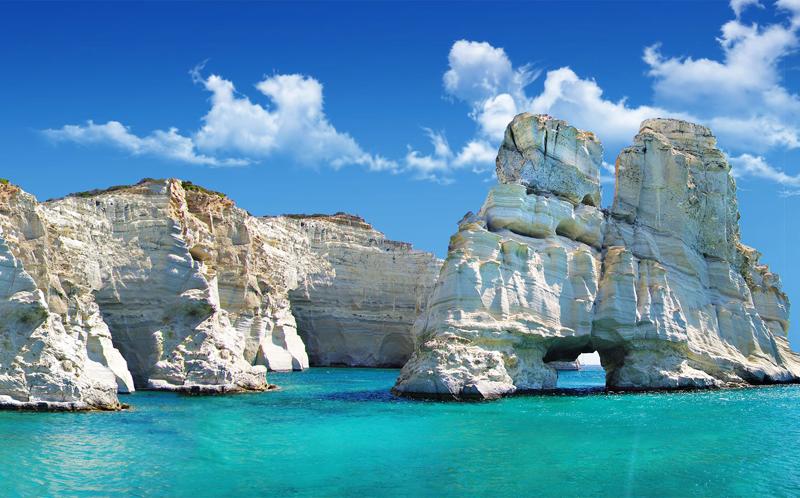 Praia de Kleftiko Milos Grécia