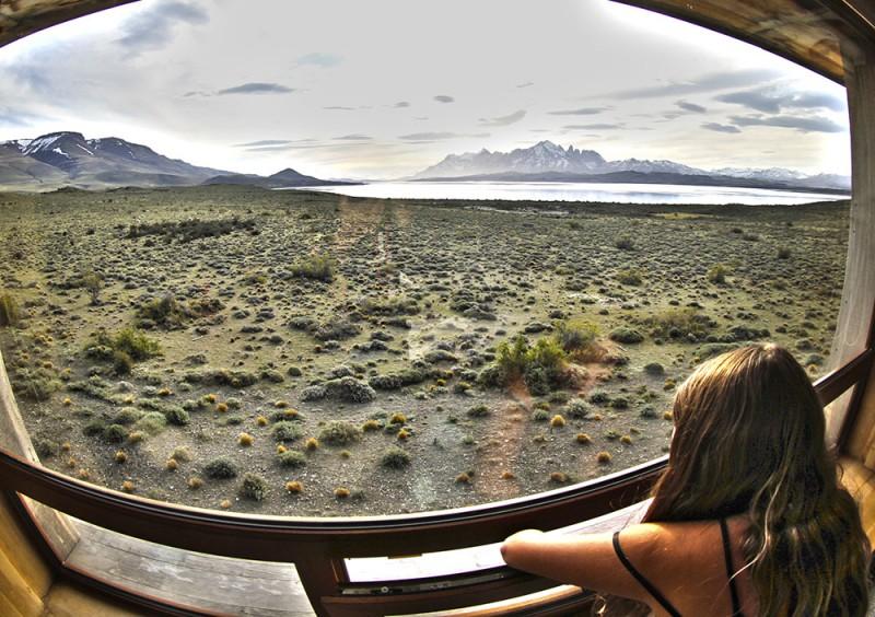 Onde ficar em Torres del Paine. vista dos quartos do Tierra Patagonia