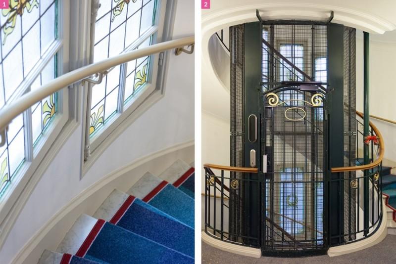 mc-hotel-lechiquier-paris-art-nouveau-deco-escalier-ascenseur-2