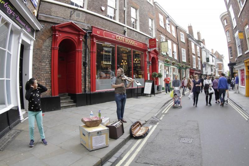 York Reino Unido ruas com casas e predios goticos