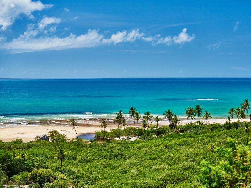 praias mais lindas do nordeste: Rio da Barra, em Trancoso