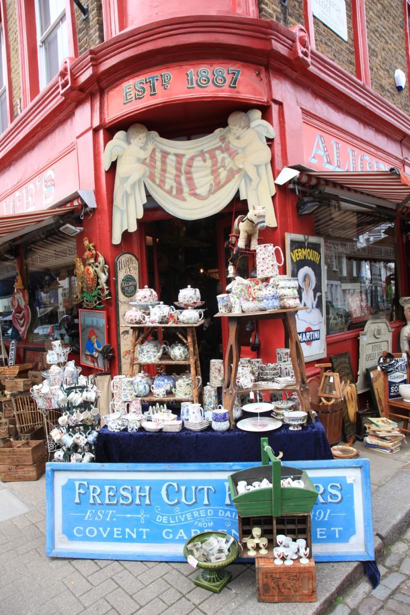 4 dias em Londres: o que fazer notting hill portobello market