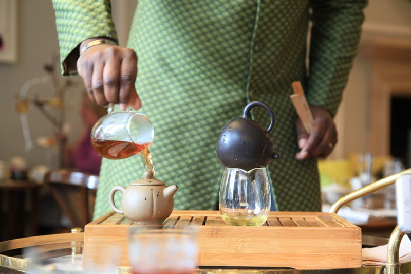 chá da tarde no Mandarin Oriental Londres