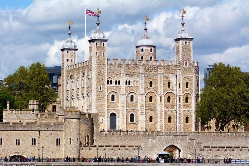 Londres dicas: a construção histórica de London Tower.