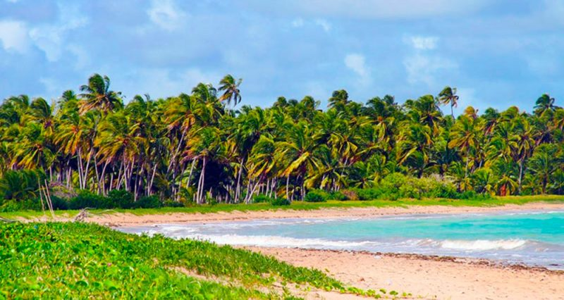 A praia do Lage, vista da frente da pousada BoraPira