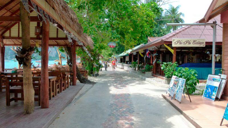 Onde ficar em Phi Phi: Ton Sai pro lado do vilarejo,