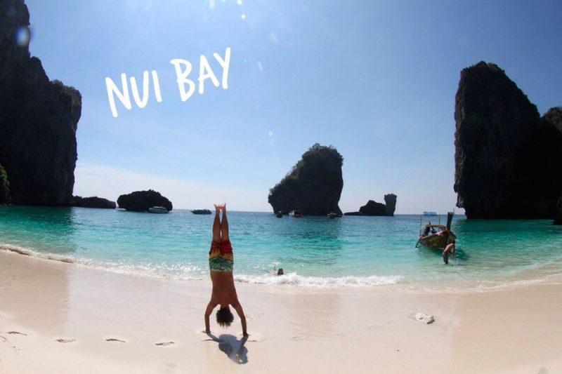 A praia de Nui Bay: linda e vazia. vale à pena