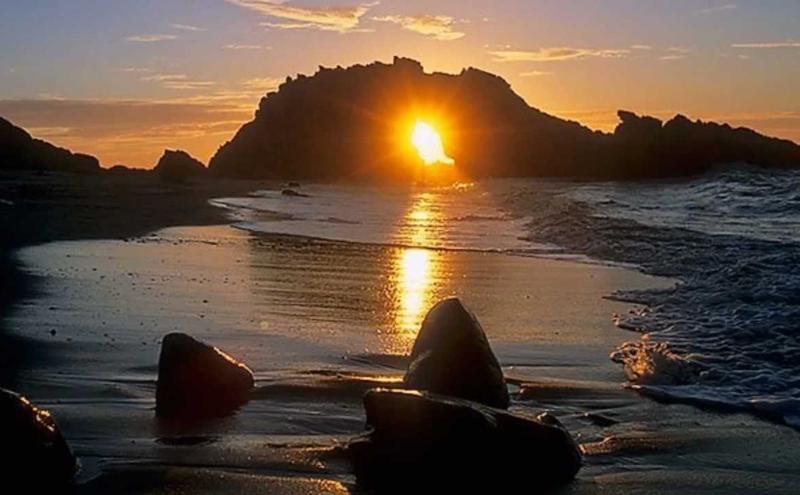 Pedra Furada: em julho o sol cai no buraco da rocha