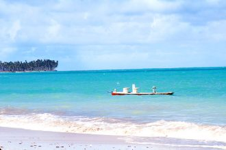 O Brasil mais lindo que o Caribe. Aqui, a praia de