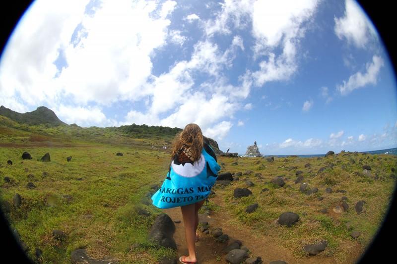 A trilha para a praia do Atalaia