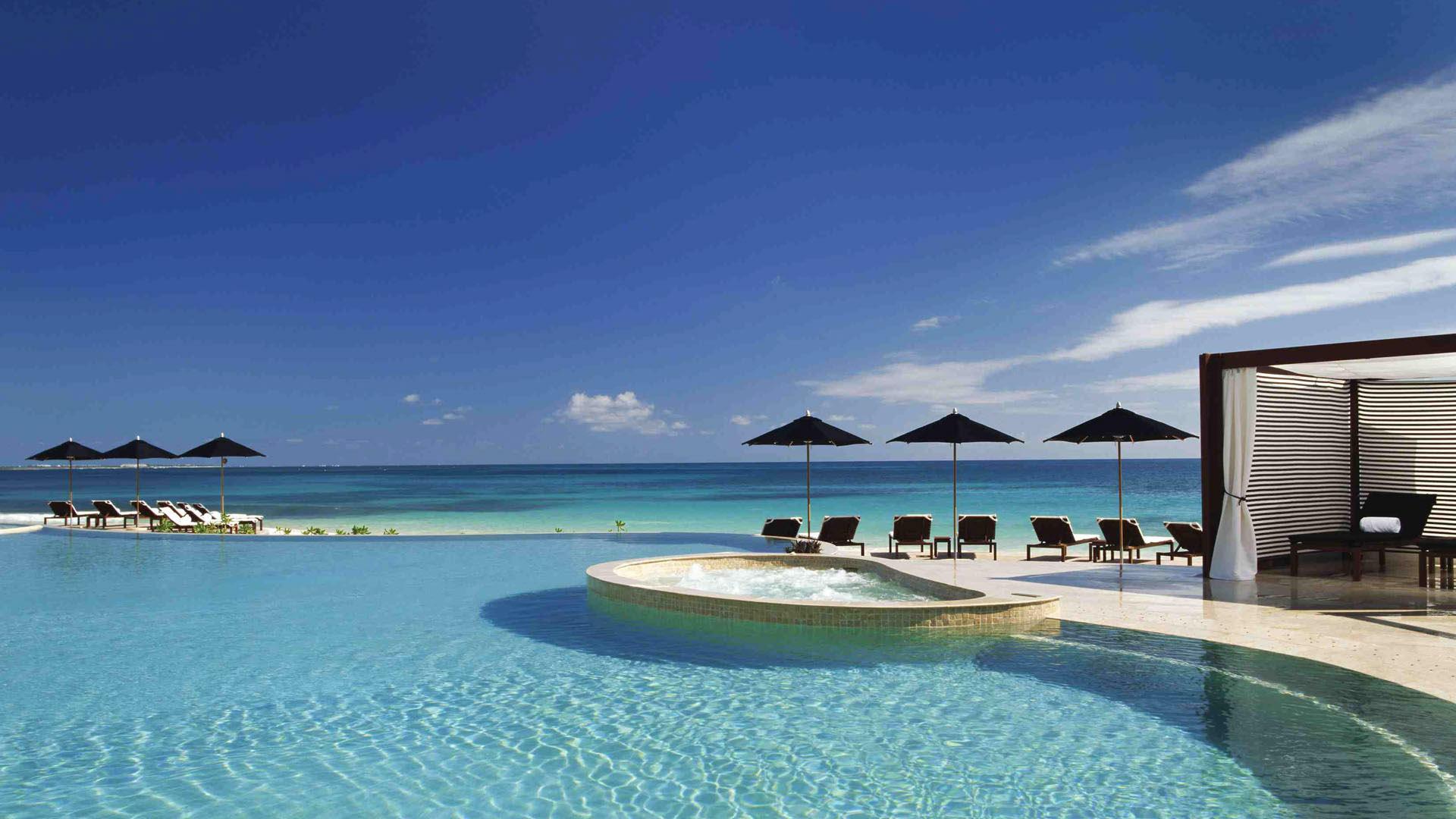 hoteis playa del carmen Rosewood Mayakoba, infinity edge pool