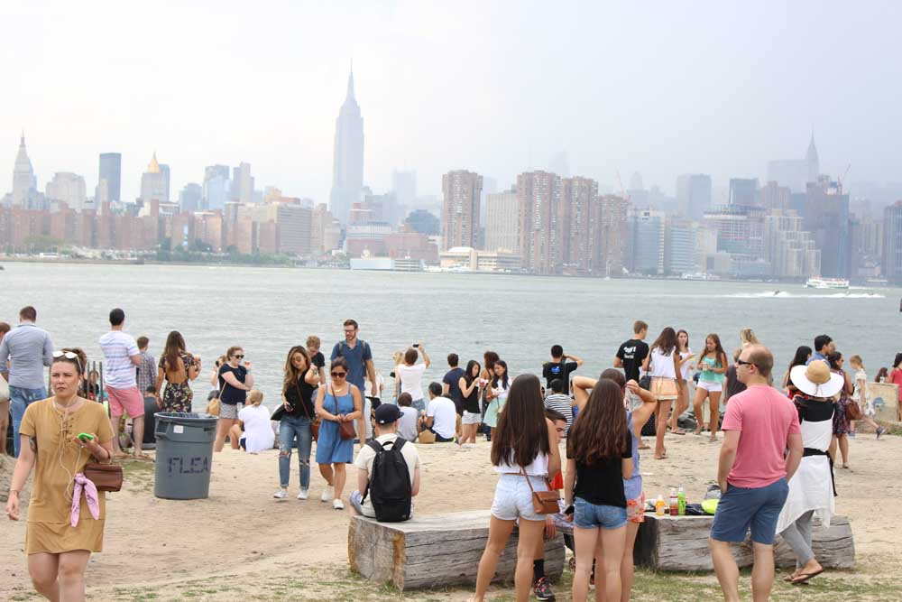 dicas de nova york: Smorgasburg, no Brooklyn: feira de comida com gente animada