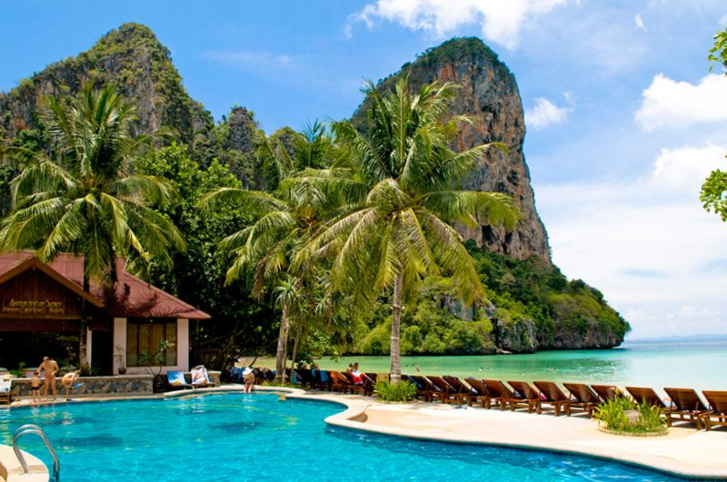 Dicas de Krabi: Railay, e a vista da piscina do Railay Spa and Resort