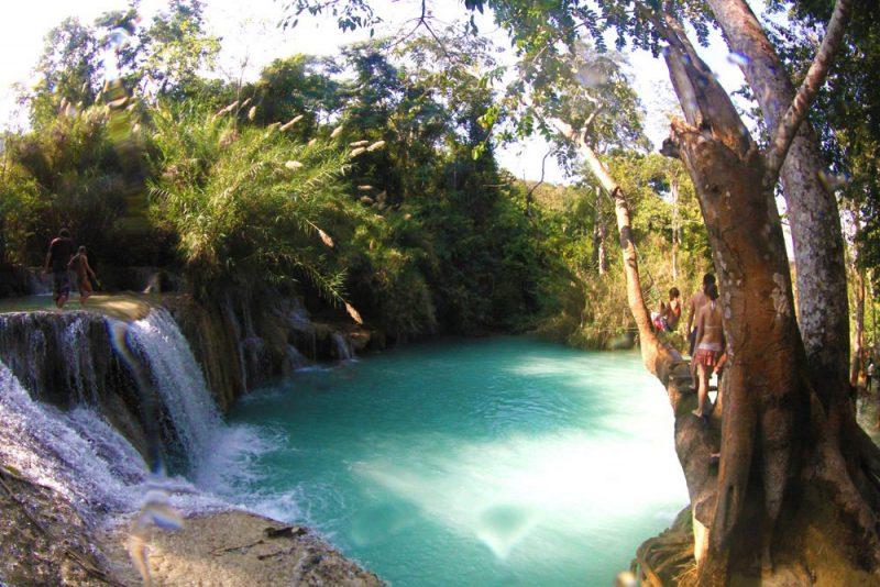Viagem Tailândia e Sudeste Asiático luang prabang kuang si falls