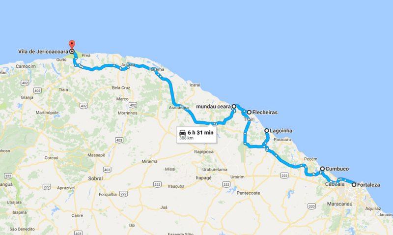 Rota Sol Poente Ceará Fortaleza