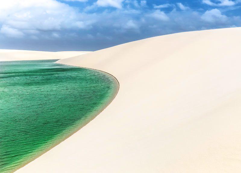 Viagem em agosto: as lagoas dos Lençóis Maranhenses ainda estão cheias.