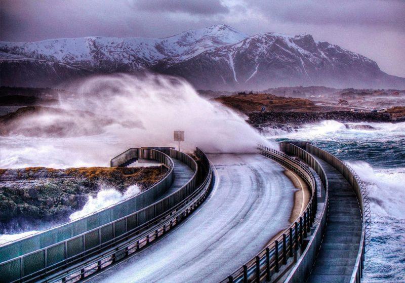 Estradas Atlantic Ocean Noruega