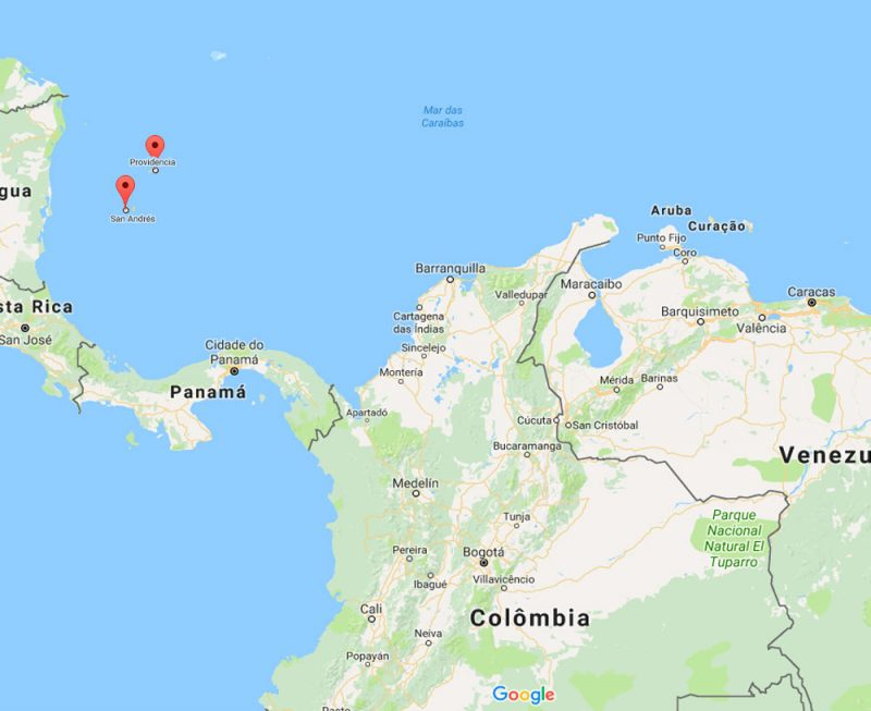 Mapa Colômbia