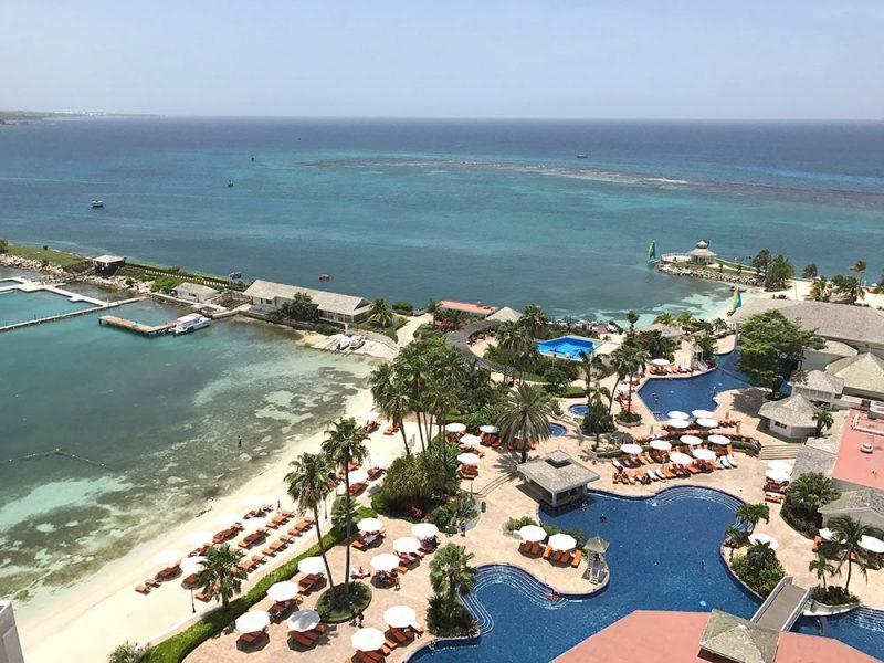 Onde se hosperdar na Jamaica: vista do nosso quarto no Moon Palace