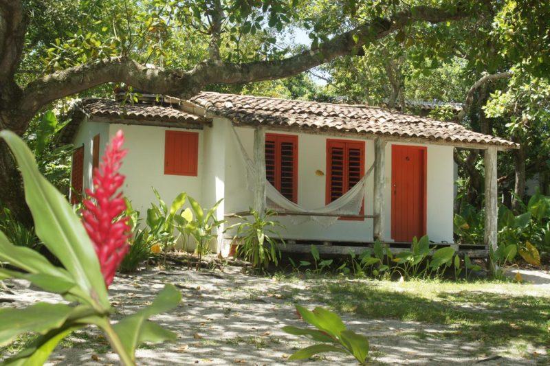 Onde ficar em Caraíva: Cabanas da Pousada Lagoa.