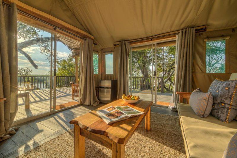 Onde se hospedar em Botswana: vista dos quartos do Xaro Lodge.