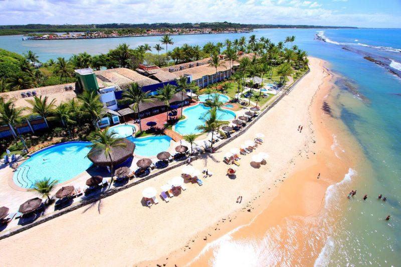 Hotéis em Arraial D'ajuda : pé na areia do Arraial D'ajuda Eco Resort.