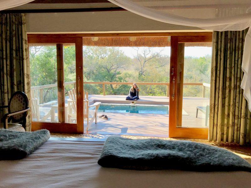 lodges no kruger: A vista na nossa cama no lodge Thornybush: nada como acordar assim.