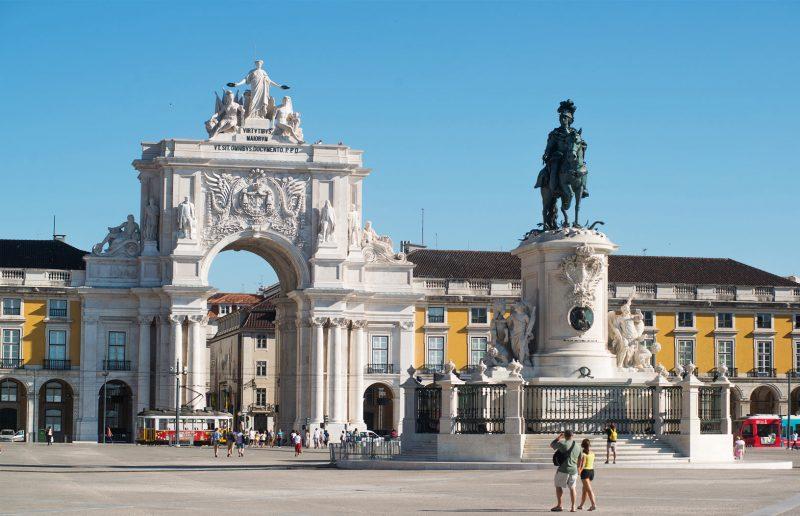 O que fazer em Portugal: O Arco da rua Augusta na Praça do Comércio