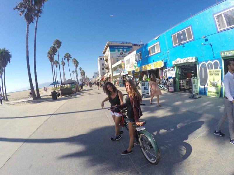 Bike pela orla: de Santa Monica para Venice