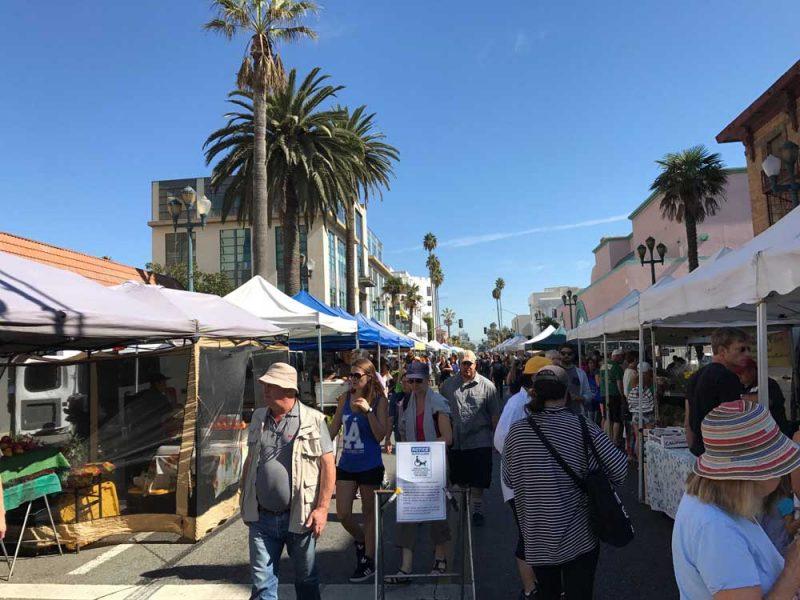 E o Farmer's Market de Santa Monica