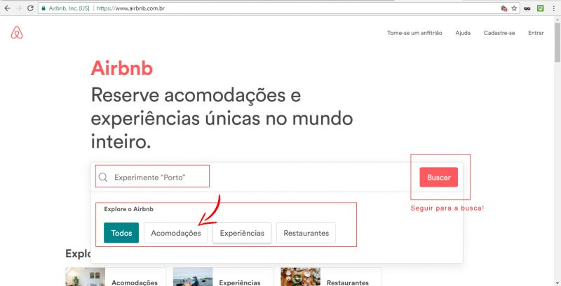 Site AirBnb.