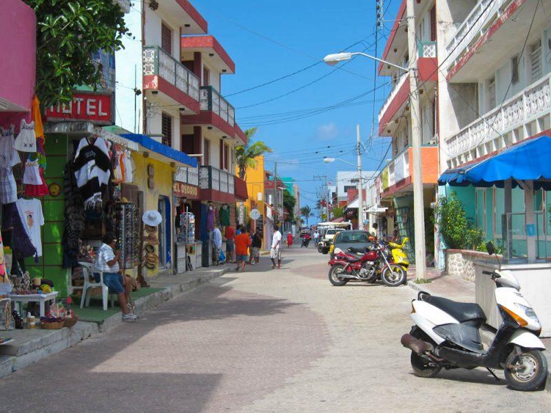 O centrinho de Isla Mujeres