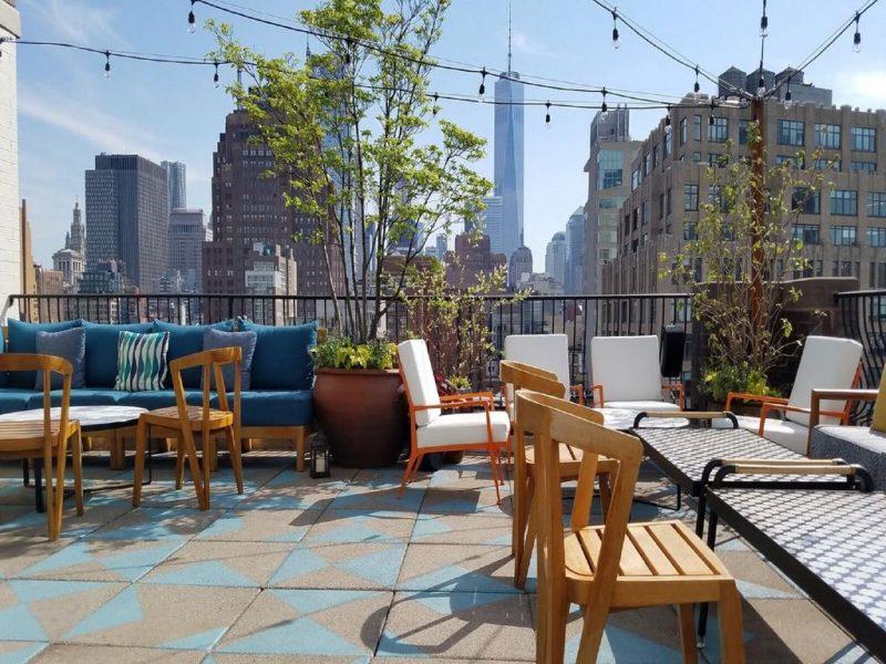 Melhores hoteis NY: o rooftop do Sixty Soho