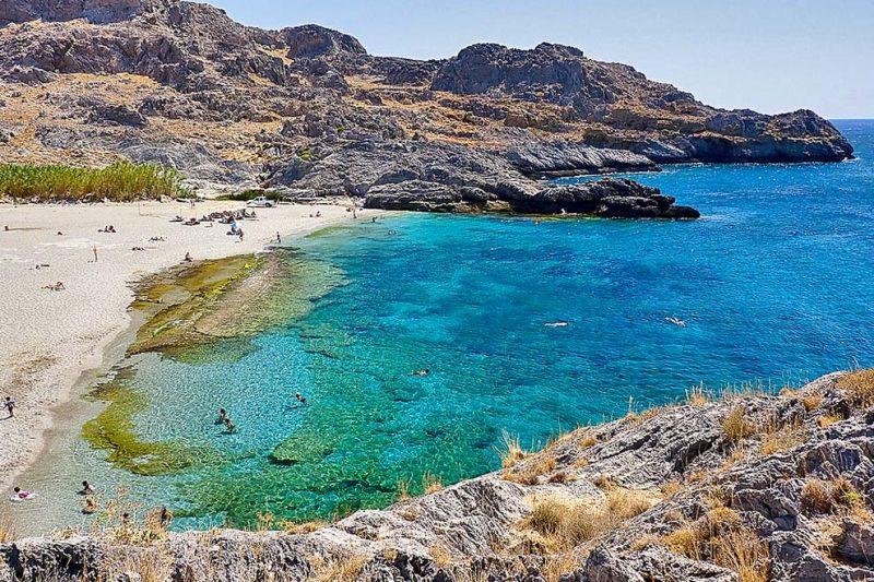 O que fazer em Creta: praia de Ammoudi