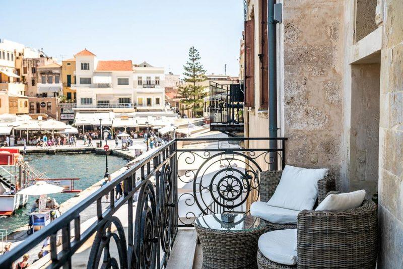 Onde ficar em Creta: vista do Residenza Vranas