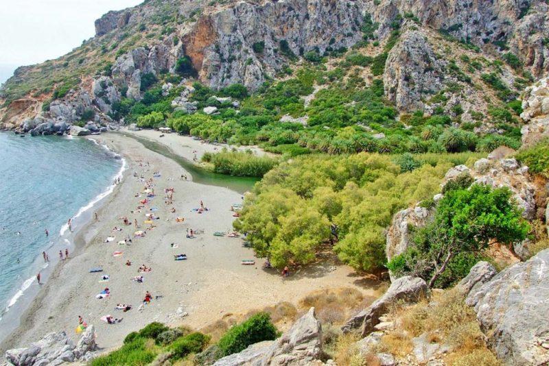 A praia de Prevelli, em Creta