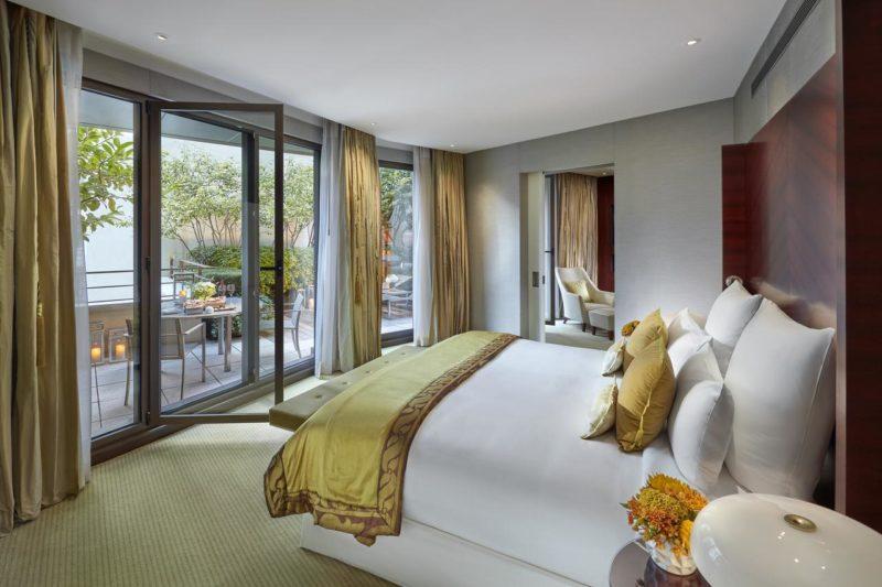 Melhores hotéis de Paris: Quarto do Mandarin Oriental.