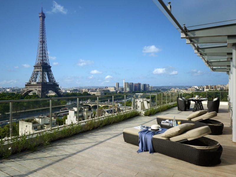 Hotéis de luxo em Paris: vista espetacular do Shangri-La Hotel.