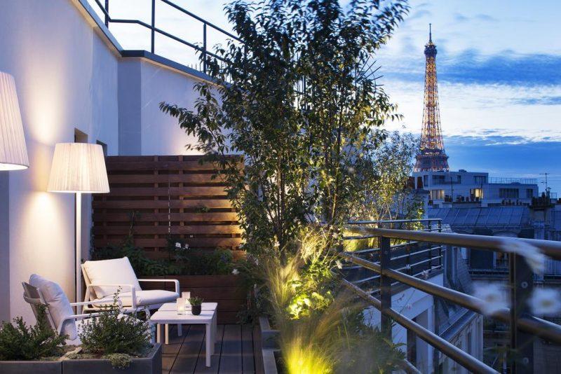 Hotéis de luxo em Paris: Vista do Le Cinq Codet