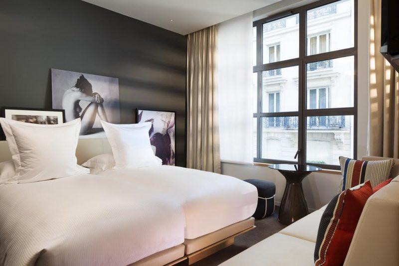 Onde se hospedar em Paris: quarto do Le Cinq Codet.