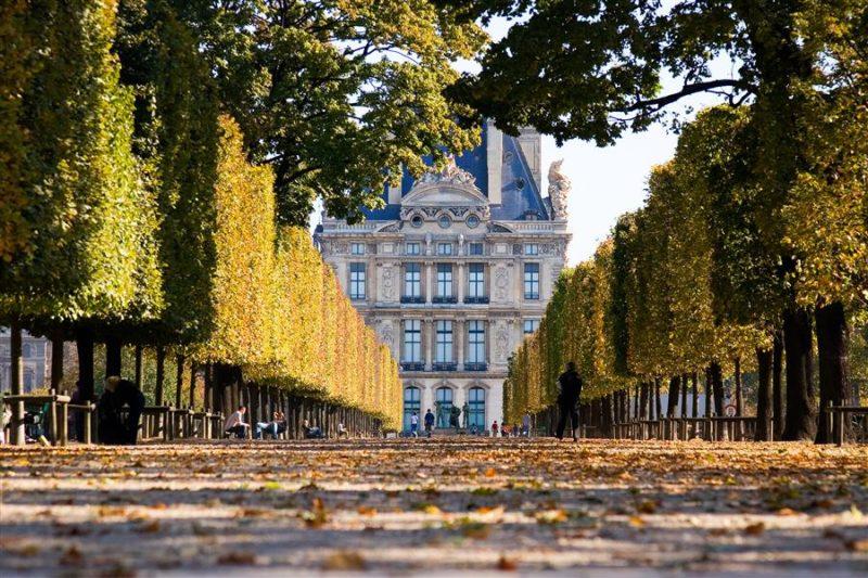 O bairro do famoso Museu do Louvre.