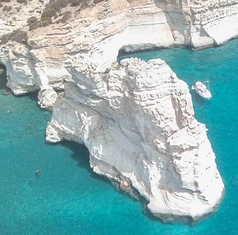 Ilhas Gregas Kleftiko Milos