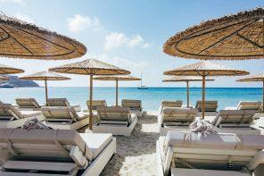 Os 5 melhores beach clubs em Mykonos: Scorpius, Nammos, Alemagou